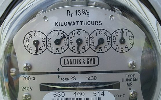 The face of an electricity meter